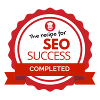 Recipe for SEO Success graduat badge